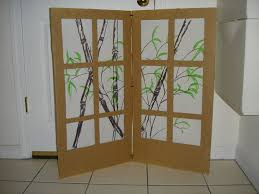 Cardboard Room Dividers by Cardboard Shoji Screen Room Partition 7 Steps With Pictures