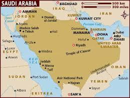 arab map map of saudi arabia
