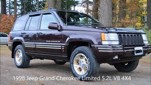 jeep grand limited 1998 1998 jeep grand limited 5 2l v8 4x4 leather loaded