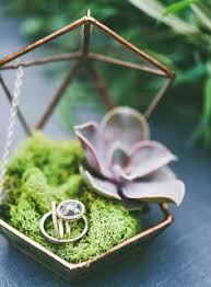 Wedding Ring Holder by 2017 Modern Wedding Trend Terrarium Geometric Details U0026 Ideas