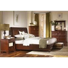Richmond Bed Frame Richmond Wood Sleigh Storage Bed In Charleston Brown Humble Abode