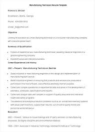Mechanic Resume Samples by Production Technician Resume Sample Resumes Design Resume Samples