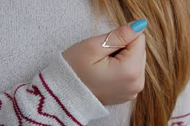 14k gold chevron rings sterling silver v shaped ring view thumb ring ring v ring chevron ring thumb silver v ring