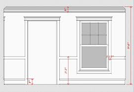 Colonial Chair Rail - interior trim scale u0026 proportion time to build