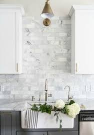 backsplash ideas for white kitchens arabesque elongated hexagon and penny tiles these neutral