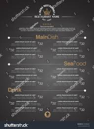 menus designed exquisitely beautiful stylish easy stock vector