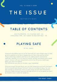 preschool newsletter templates canva