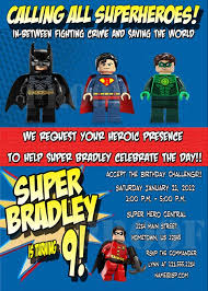 personalized photo invitations cmartistry lego super heroes