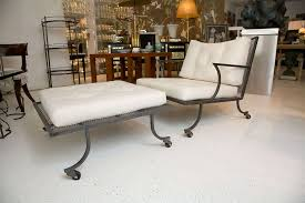 wrought iron patio ottoman iron patio chairs and ottomans by william haines at 1stdibs