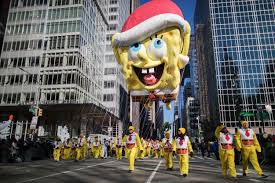 macy s thanksgiving day parade floats through nyc