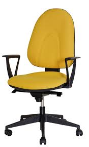 chaise bureau jaune siege de bureau dactylo synchrone macey