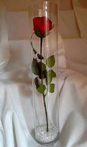 Single Rose In A Vase Simply Classic Single Rose Centerpiece Wedding Classic Cardinal