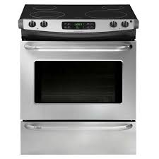 Clean Stainless Steel Cooktop Frigidaire 30 In 4 6 Cu Ft Slide In Smoothtop Electric Range