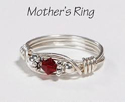 one mothers ring s ring 1 birthstone personalized sterling silver