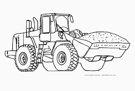 machine coloring pages for kids with construction coloring