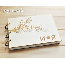 personalized wedding guestbook custom russian wood wedding guestbook personalized wedding gift