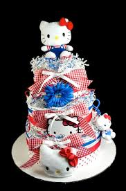 kitty baby diaper cake 3 tiers baby shower centerpiece gift