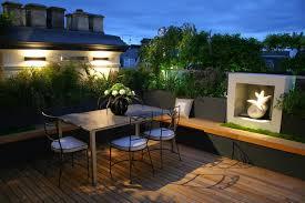 Landscape Timber Bench Garden Flowers Decor Modern Terrace House Terrace Design Wooden