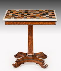 marble top pedestal table 6493 regency rectangular amboyna and ebony pedestal table with