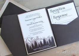 mountain wedding invitations mountain wedding invitation edming4wi