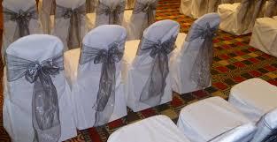 silver chair covers silver organza sashes wedding chair covers at inn