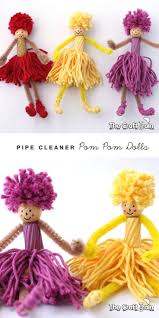 pom pom and pipe cleaner dolls pipes cleaning and dolls