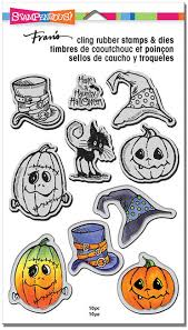 stampendous halloween hats cling stamps and dies cld02 123stitch com