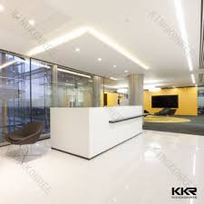 Marble Reception Desk Kkr D160106 China Customized Marble White Stone Reception Desk
