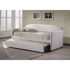 bedroom pop up trundle bed frame tufted daybed mattress for
