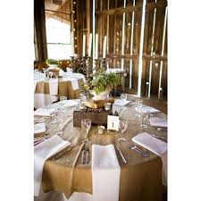 Banquet Table Linen - find natural burlap tablecloth 120 round wholesale price