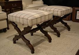 Plaid Ottoman Plaid Upholstery Gets Updated Looks Furniture Today