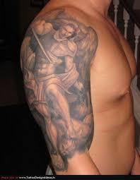 strong men u0027s angel tatoo on arm tattoomagz
