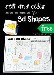 roll and color 3d shapes 3d shapes activities 3d shapes and math