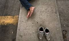 Drawn to the abyss  literature     s fascination with homelessness     The Guardian In the shoes of the destitute     a homeless man sleeps on the street