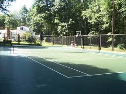 Backyard Tennis Courts Cost To Build A Tennis Court Sport Court Of Massachusetts