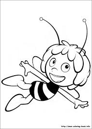 bee coloring picture