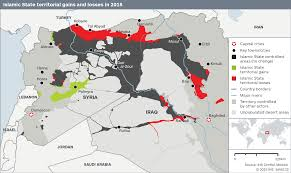 Syria Conflict Map by Islamic State U0027s Caliphate Shrinks By 14 Percent In 2015 Ihs