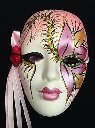 ceramic mardi gras masks pink ceramic mask mardi gras mask 19 99 picclick