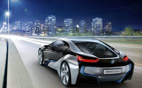 Bmw I8 Silver - new silver bmw i8 at the entrance to the city backgrounds i8