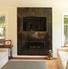 home decor creative metal fireplace surround design ideas modern