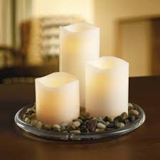 ashland wax touch led pillar candle set with remote