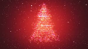looped background with christmas tree of magic particles snowy
