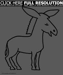 donkeys coloring pages simple cartoon donkey page