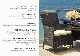 Patio Furniture Assembly Amazon Com Ohana 20 Piece Outdoor Wicker Patio Furniture