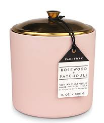 amazon com hygge collection soy wax candle in blush ceramic pot