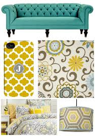 Grey And Yellow Home Decor Discover Your Color Story Turquoise Gray And Living Rooms