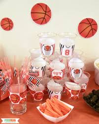 basketball party supplies basketball party ideas pixiebear party printables