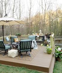 Backyard Decks Pictures How To Build A Diy Floating Deck In A Sloped Backyard