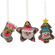 set of 3 felt fabric christmas tree decorations u2013 the christmas