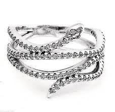 box rings images Authentic pandora 190954cz sterling silver swirling snake ring jpg